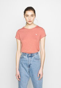 Abercrombie & Fitch - ICON CREW TEE  - Basic T-shirt - pink - 0