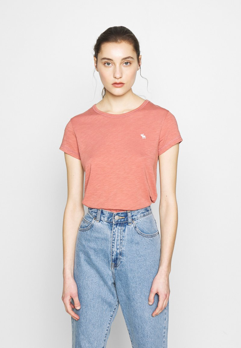 Abercrombie & Fitch - ICON CREW TEE  - Basic T-shirt - pink