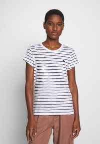 Abercrombie & Fitch - Print T-shirt - black and white - 0