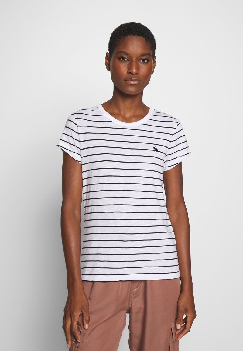 Abercrombie & Fitch - Print T-shirt - black and white