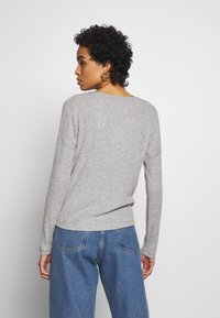 Abercrombie & Fitch - UPPER TIER COZY LOGO TEE - Maglione - grey - 2