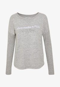 Abercrombie & Fitch - UPPER TIER COZY LOGO TEE - Maglione - grey - 4