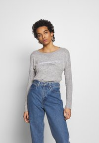 Abercrombie & Fitch - UPPER TIER COZY LOGO TEE - Maglione - grey - 0