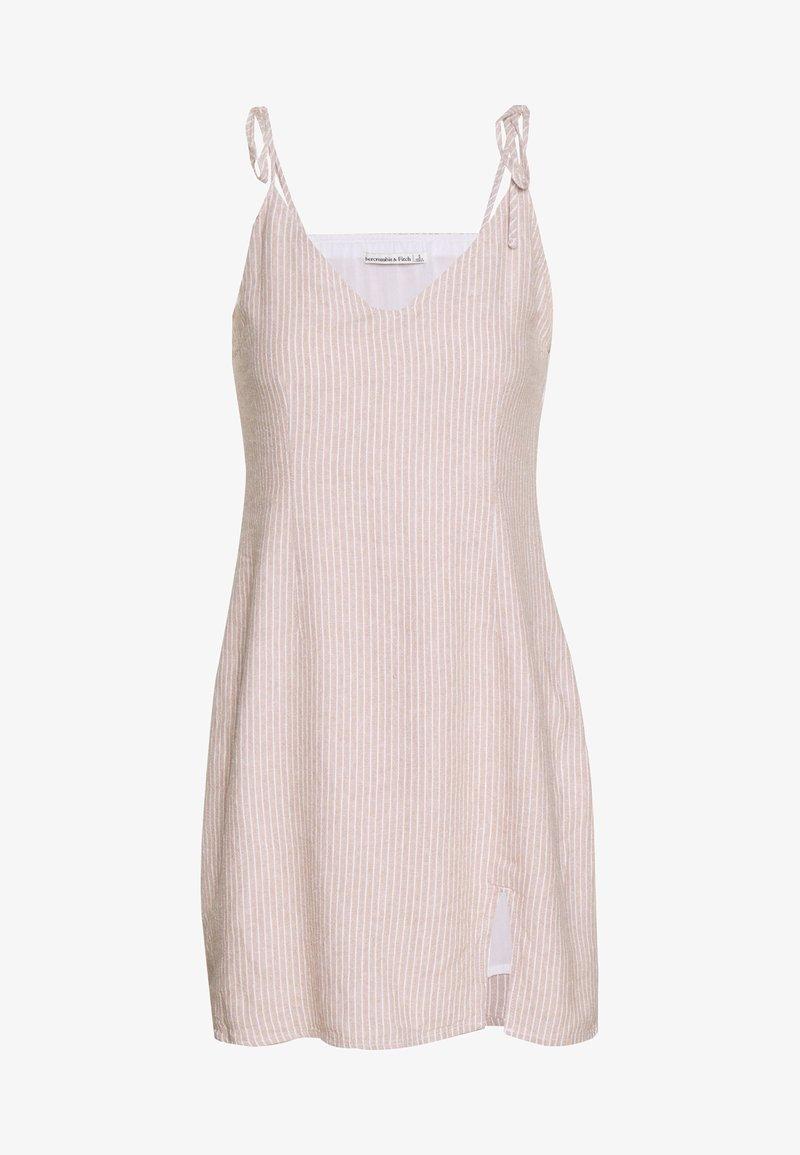 Abercrombie & Fitch - CHASE SLIP DRESS - Vestito estivo - tan