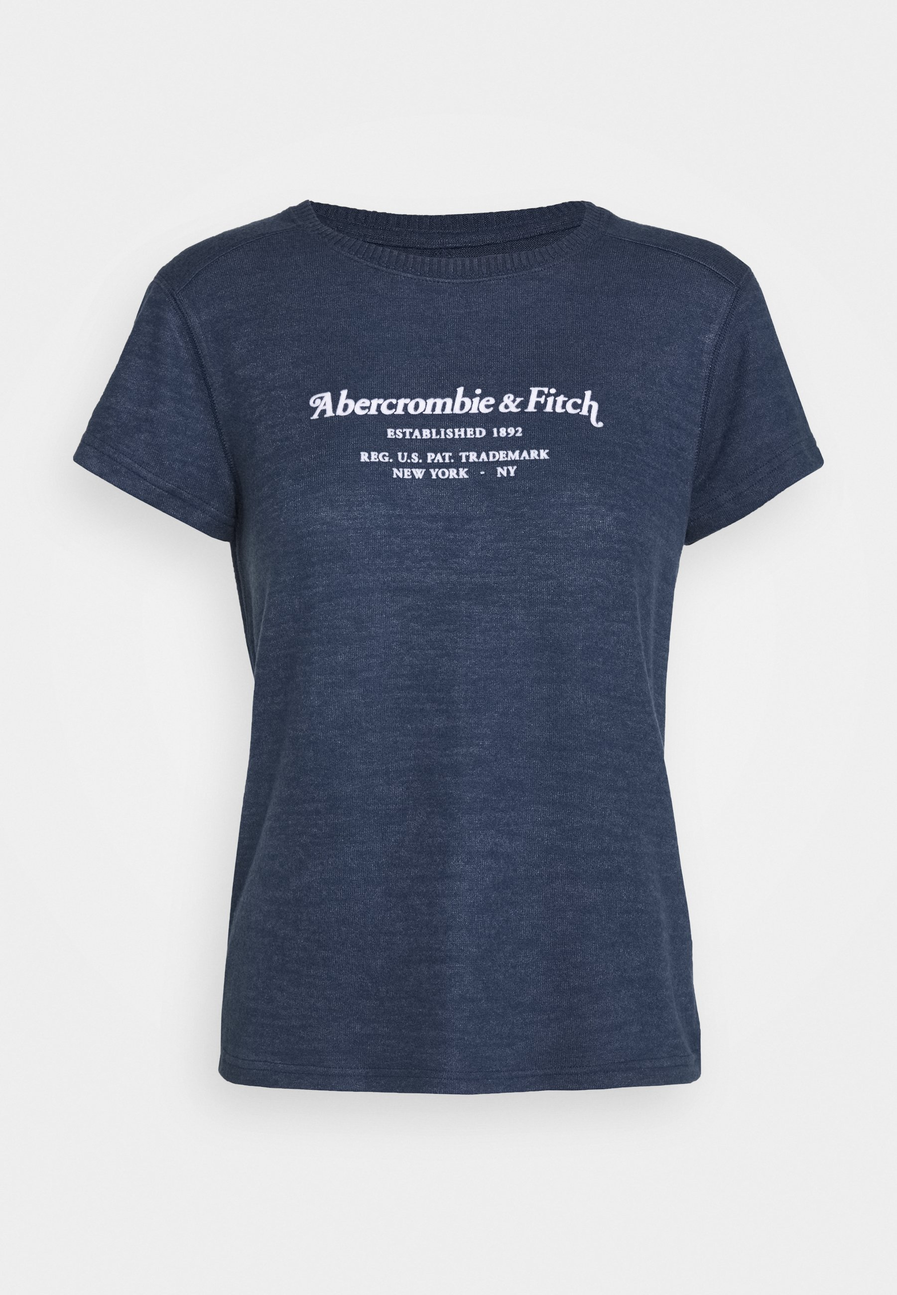 Abercrombie & Fitch Long Life Logo - T-shirt Print Navy