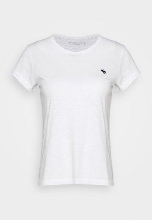 ICON CREW TEE - T-shirts - white