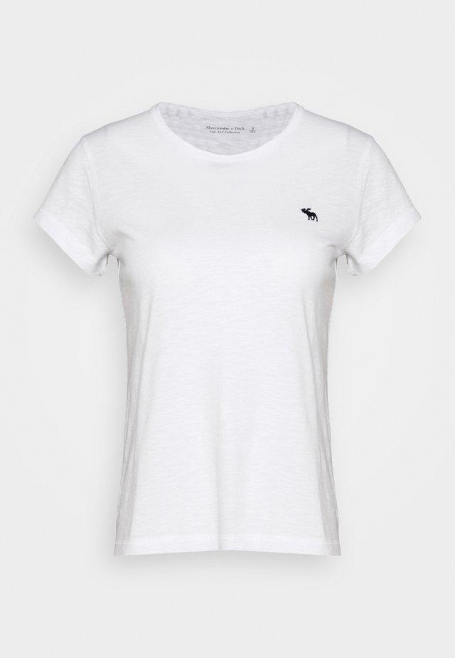 ICON CREW TEE - Jednoduché triko - white