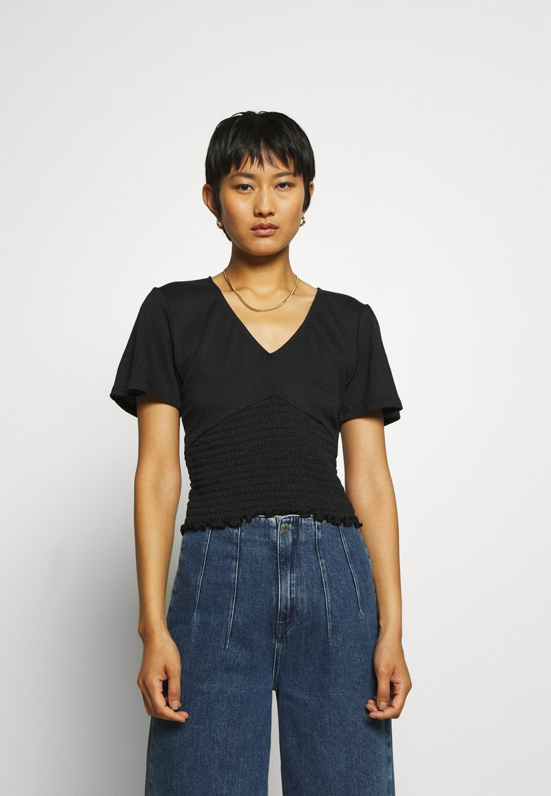 Abercrombie & Fitch - T-shirt con stampa - black
