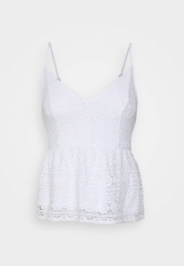 BARE LACE PEPLUM CAMI  - Top - white
