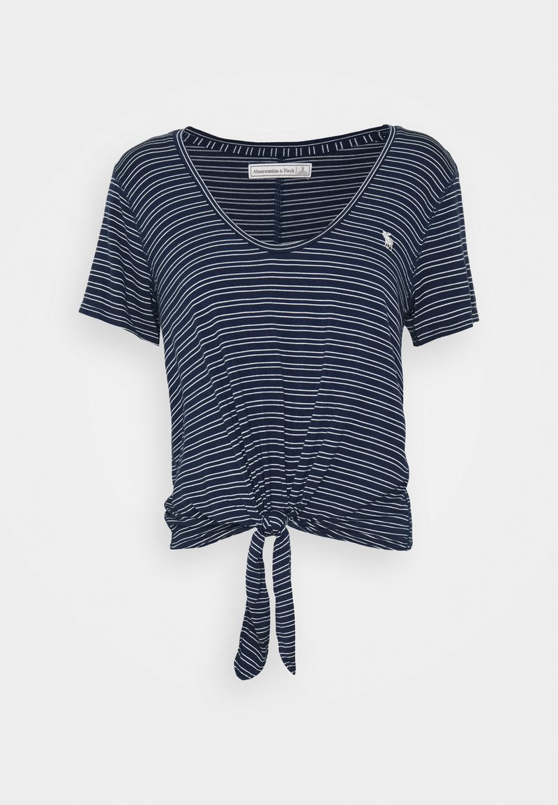 Abercrombie & Fitch - TEE - Print T-shirt - navy