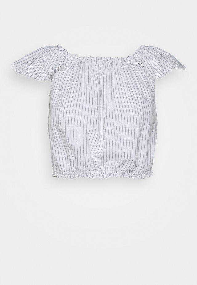 PRETTY CINCH - Blouse - blue/white