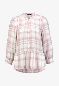Abercrombie & Fitch - PEPLUM PLAID POPOVER - Camicetta - white/pink - 4