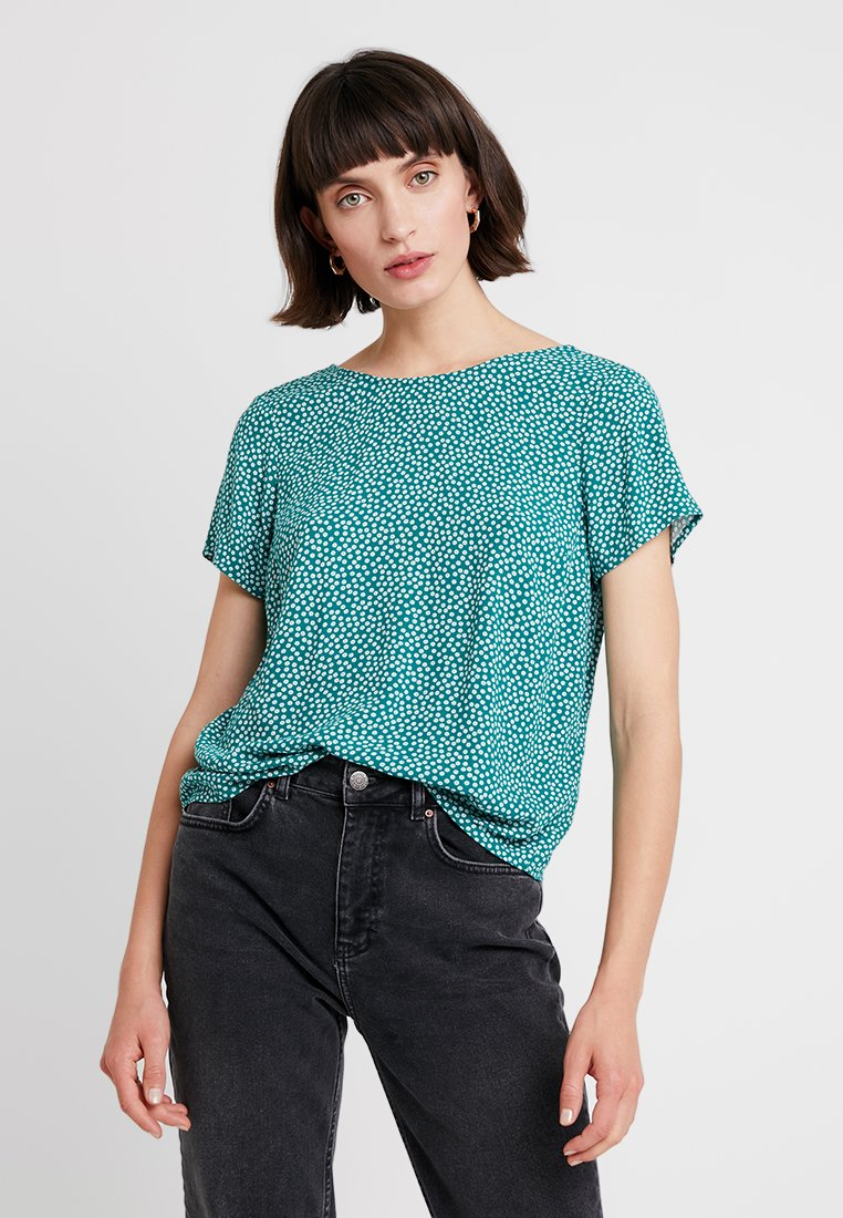 Abercrombie & Fitch - BUTTON BACK TEE - Blouse - green