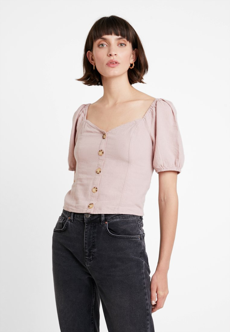 Abercrombie & Fitch - SHORT SLEEVE TEE - Blouse - pink
