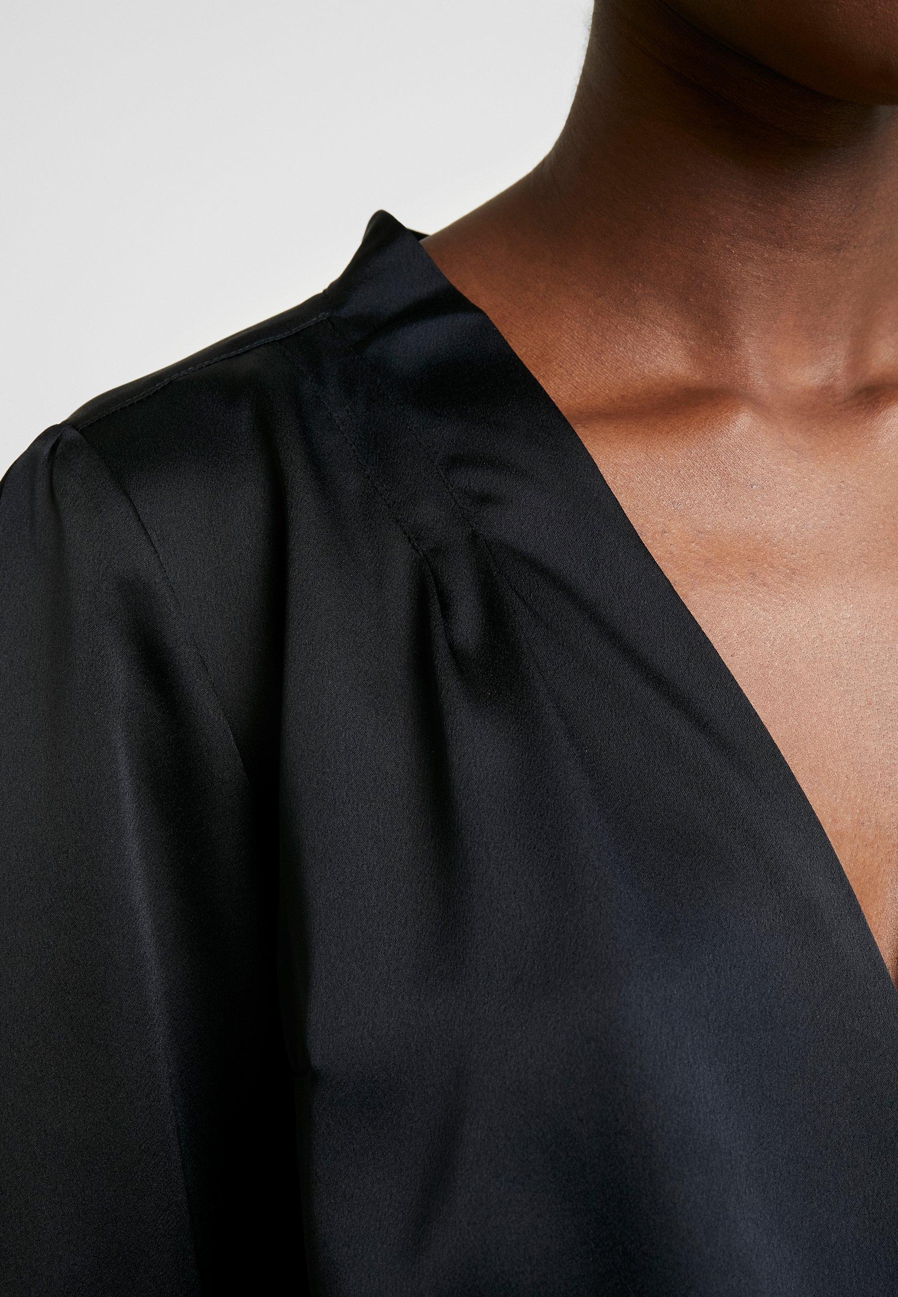 Abercrombie & Fitch HOLIDAY BLOUSE - Bluzka - black beauty