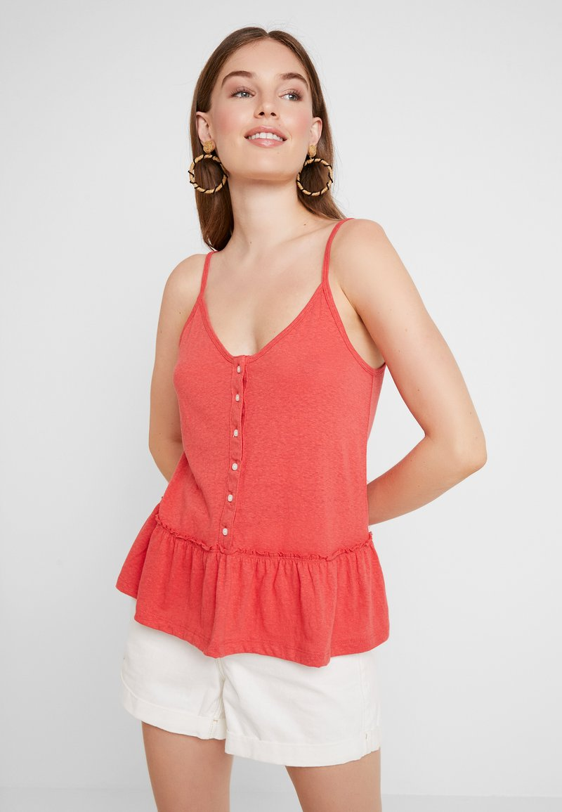 Abercrombie & Fitch - PEPLUM CAMI - Top - red