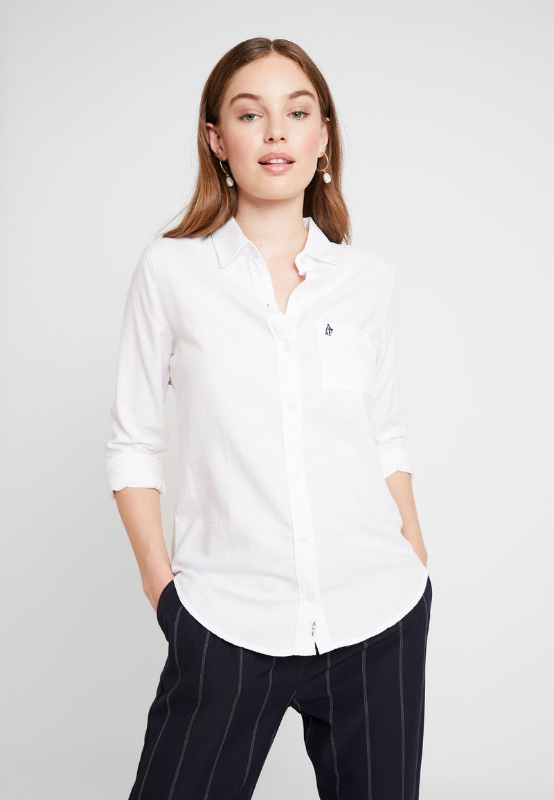 Abercrombie & Fitch - DRAPEY PREP - Chemisier - white