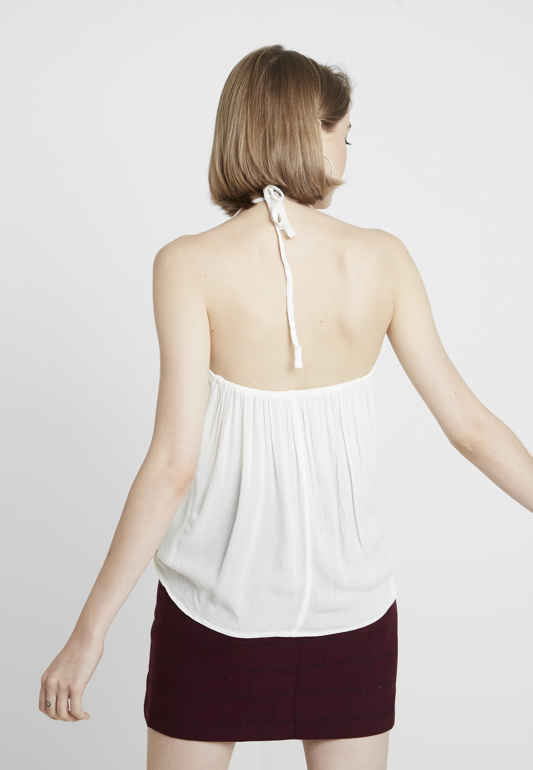 Abercrombie & Fitch Top White 9Oewi0L4