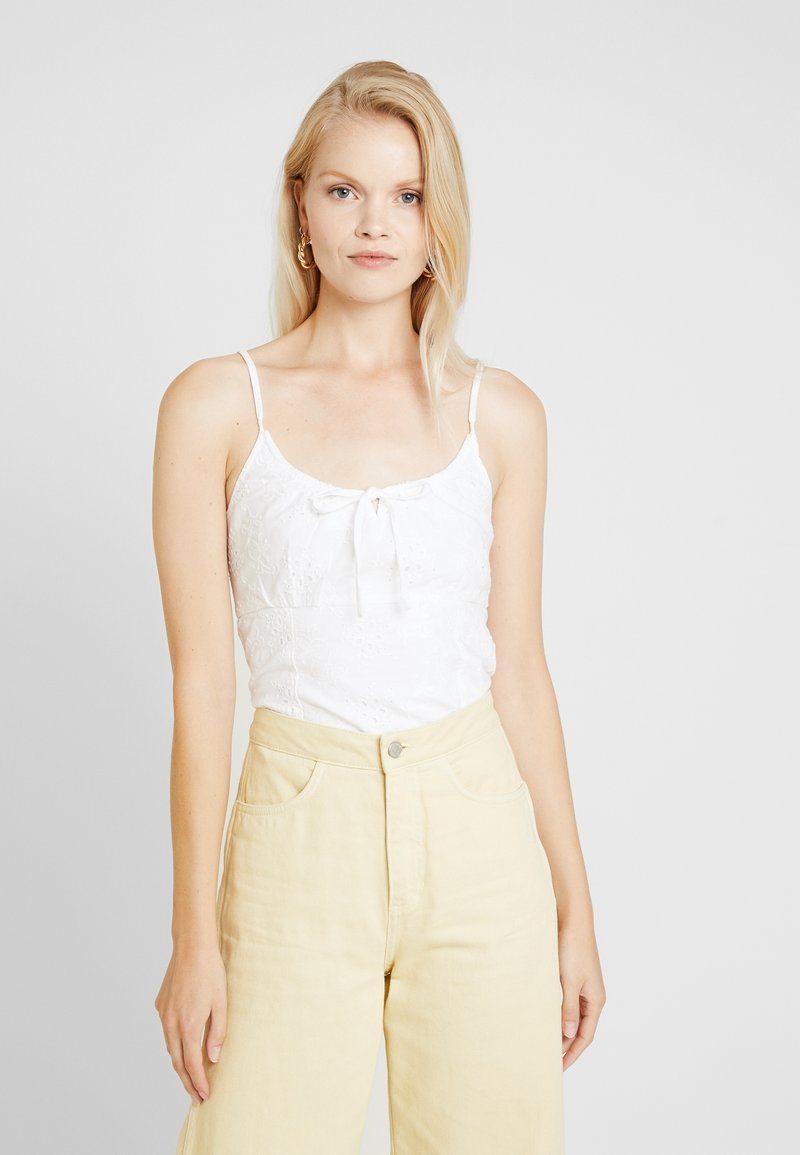 Abercrombie & Fitch - CUTWORK PAMI - Top - white
