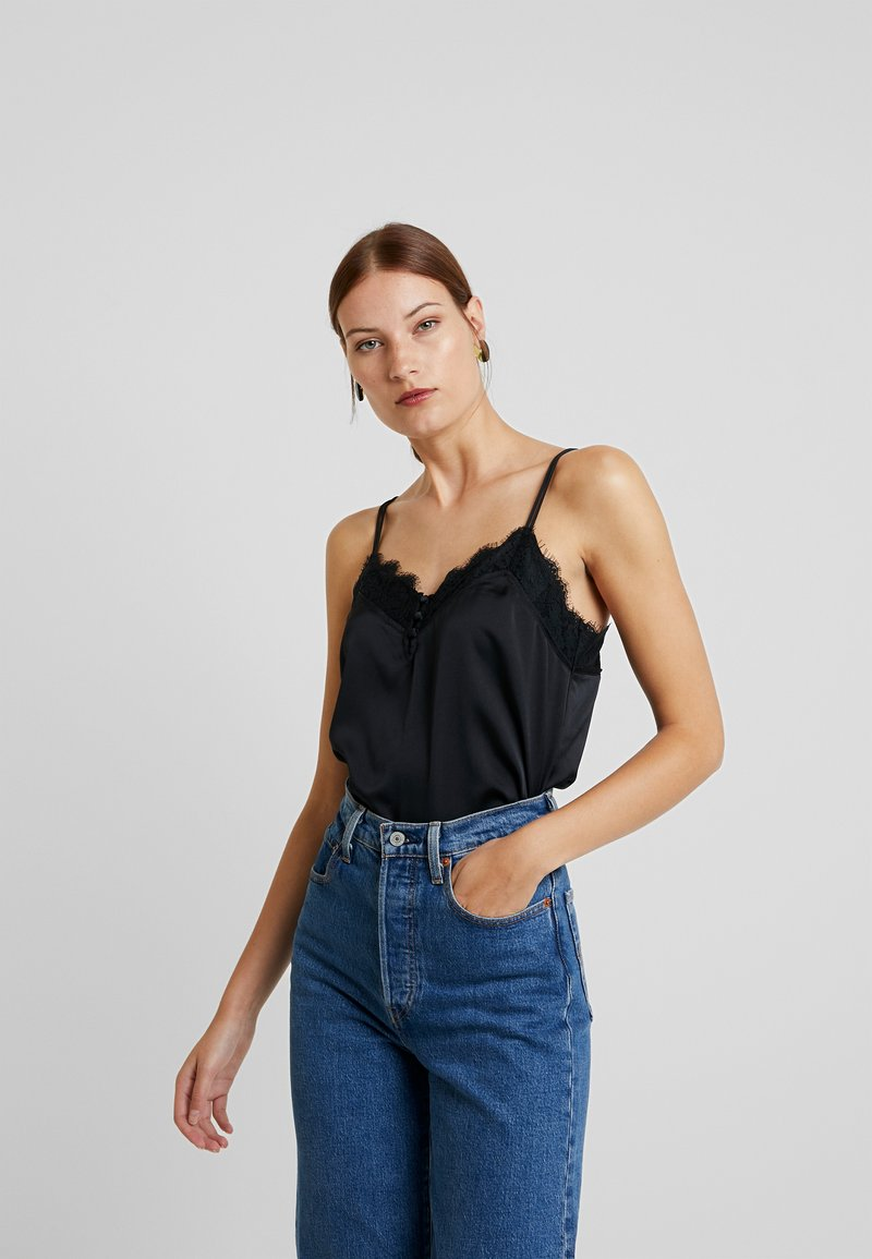 Abercrombie & Fitch - SCANDY STREET LINGERIE CAMI - Topper - black beauty