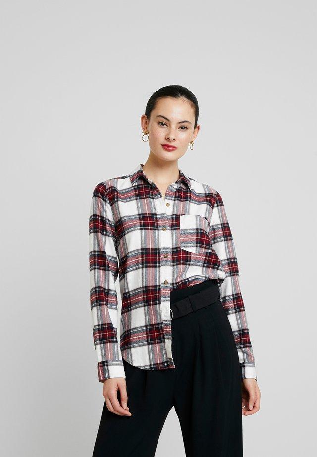 XMAS MOOSE - Button-down blouse - white grounded