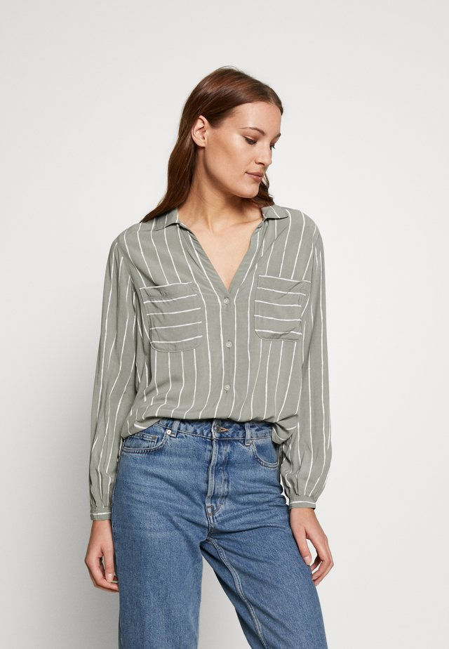 SIGNATURE  - Button-down blouse - green ground