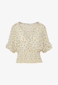 Abercrombie & Fitch - SMOCK WAIST BLOUSE - Camicetta - white - 4