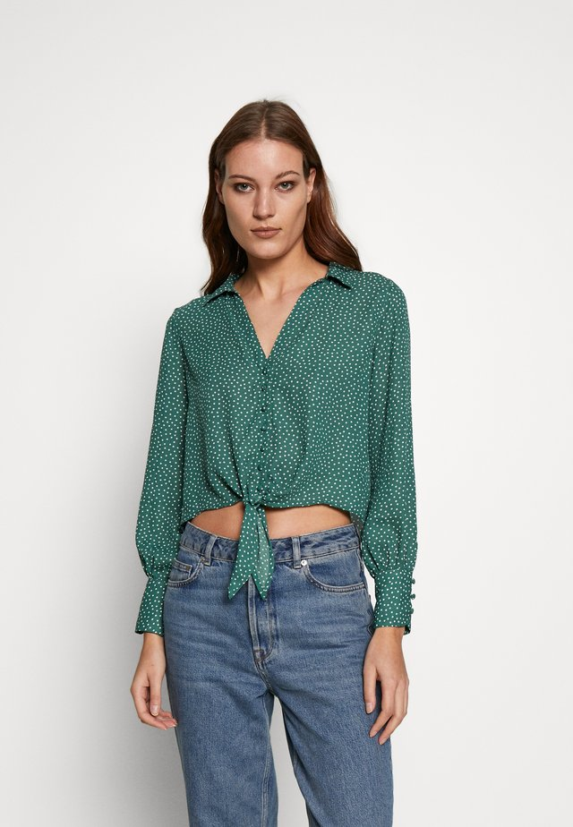 PRINTED - Button-down blouse - green