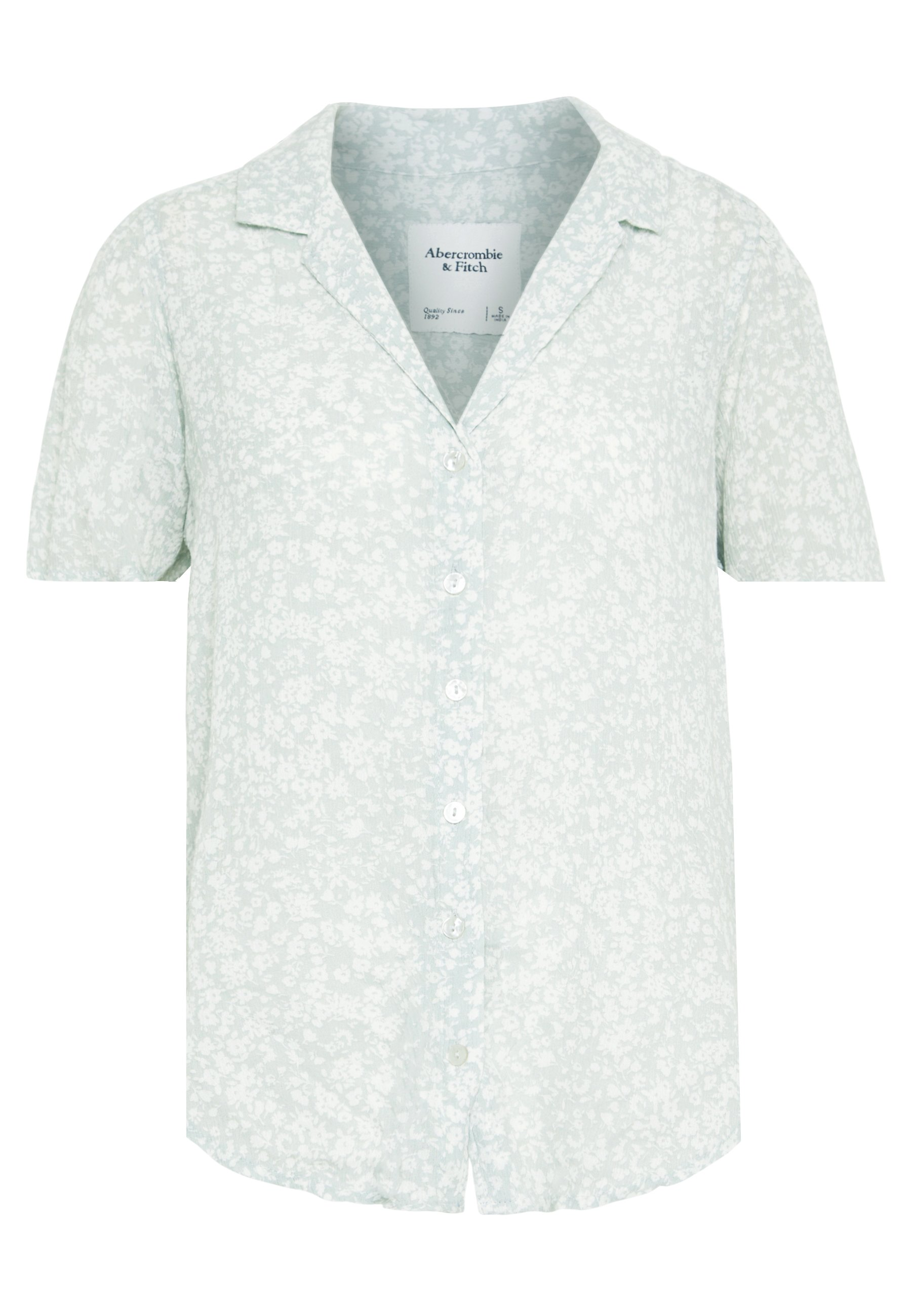 Abercrombie & Fitch SIGNATURE TIE FRONT - Overhemdblouse - mint grounded