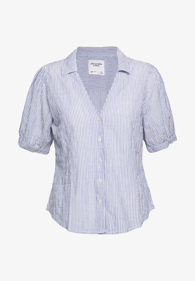SUMMER - Button-down blouse - white/blue