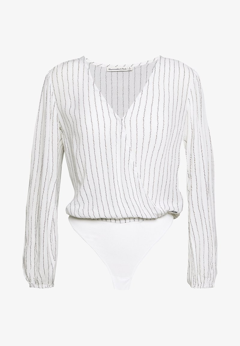 Abercrombie & Fitch - CHASE BLOUSE - Camicetta - white/yellow
