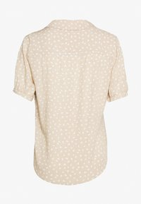 Abercrombie & Fitch - PUFF SLEEVE - Button-down blouse - brown - 1