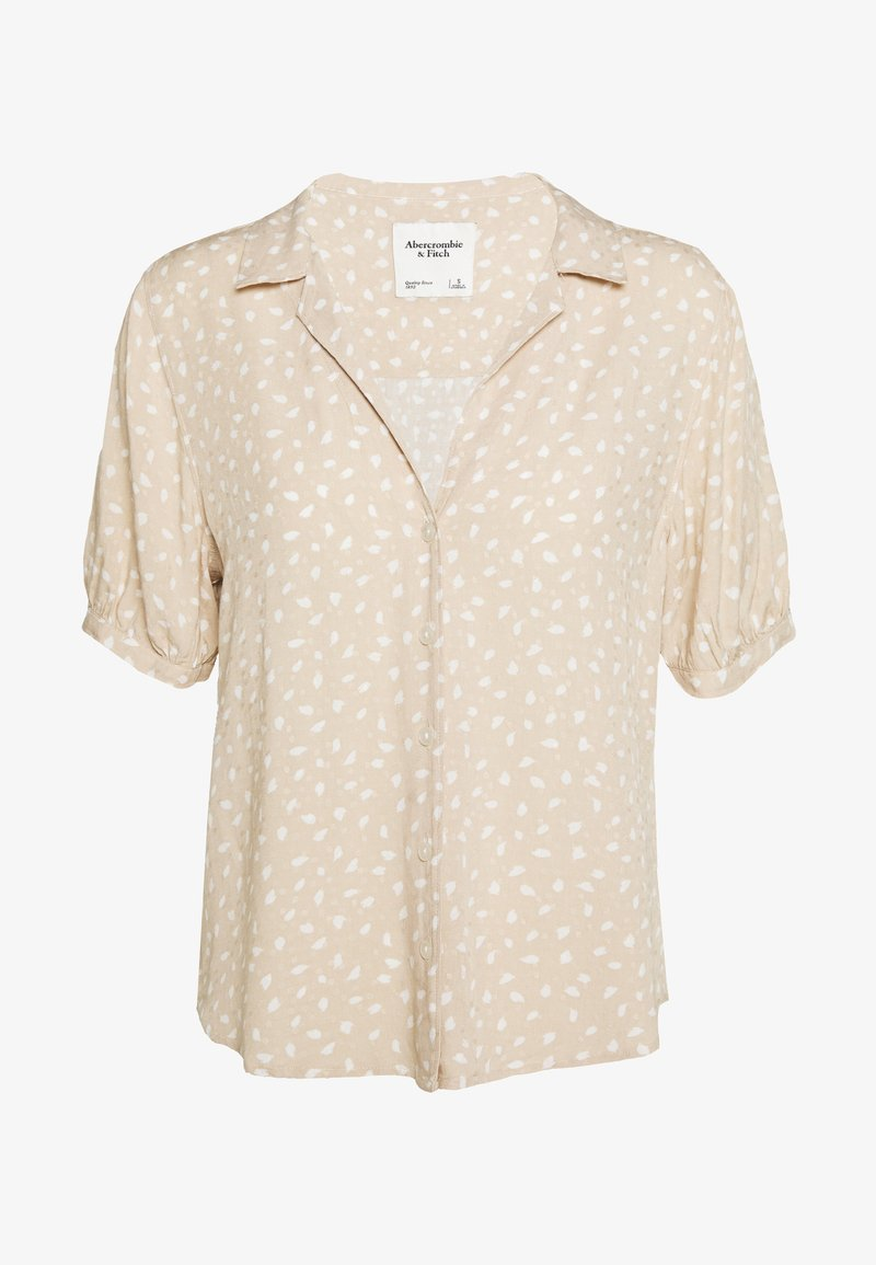 Abercrombie & Fitch - PUFF SLEEVE - Button-down blouse - brown