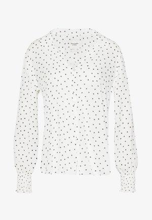 SMOCKED - Button-down blouse - white