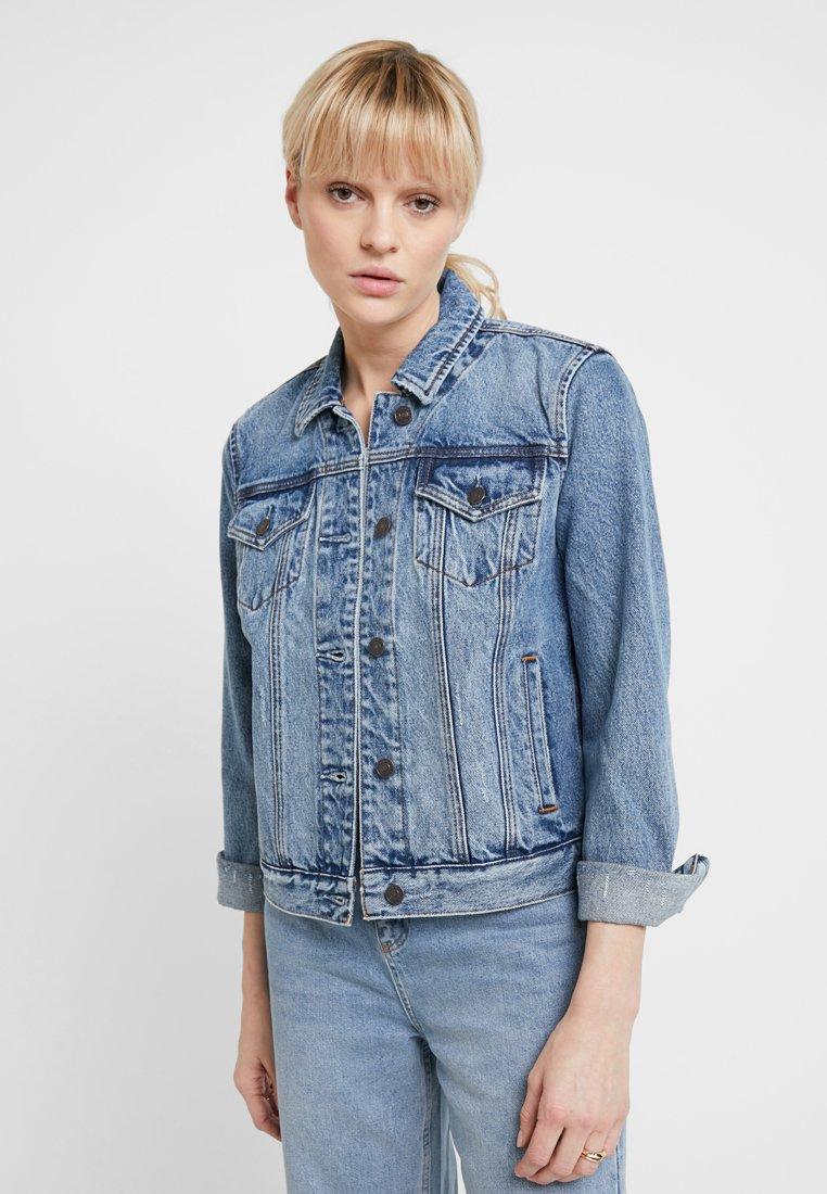 Abercrombie & Fitch - CLASSIC JACKET - Denim jacket - medium wash