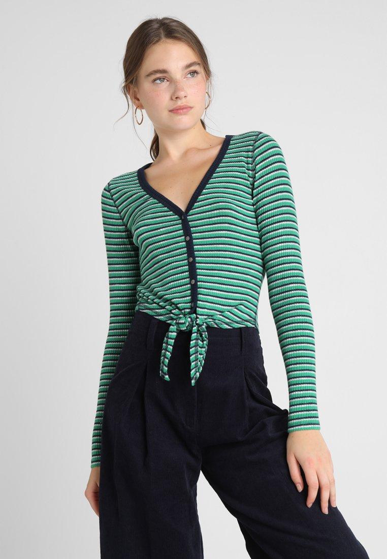Abercrombie & Fitch - LONG SLEEVE BUTTON WITH KNOT - Långärmad tröja - green