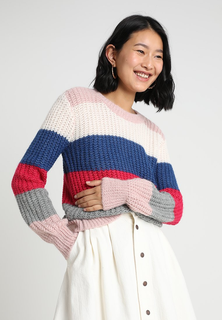 Abercrombie & Fitch - BALLOON SLEEVE SWEATER - Strickpullover - multi-color