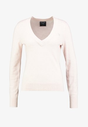 ICON V NECK WITH SHINE MOOSE - Maglione - pink