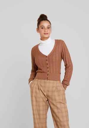 POINTELLE V-NECK  - Vest - light brown