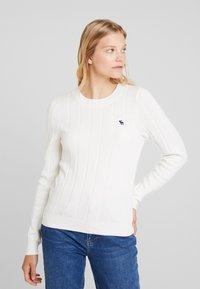 Abercrombie & Fitch - ICON CREW NECK - Pullover - cream - 0
