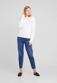 Abercrombie & Fitch - ICON CREW NECK - Pullover - cream - 1