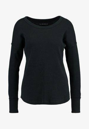 WAFFLE LOGO TEE - Sweter - black