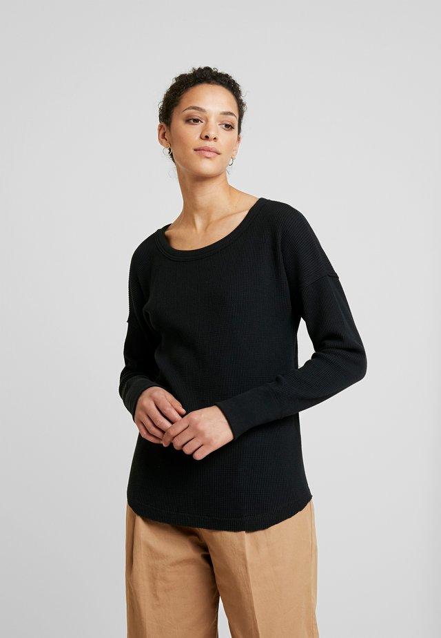 WAFFLE LOGO TEE - Jersey de punto - black