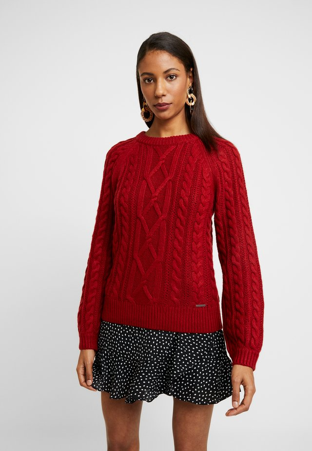 MOCKNECK - Jumper - red