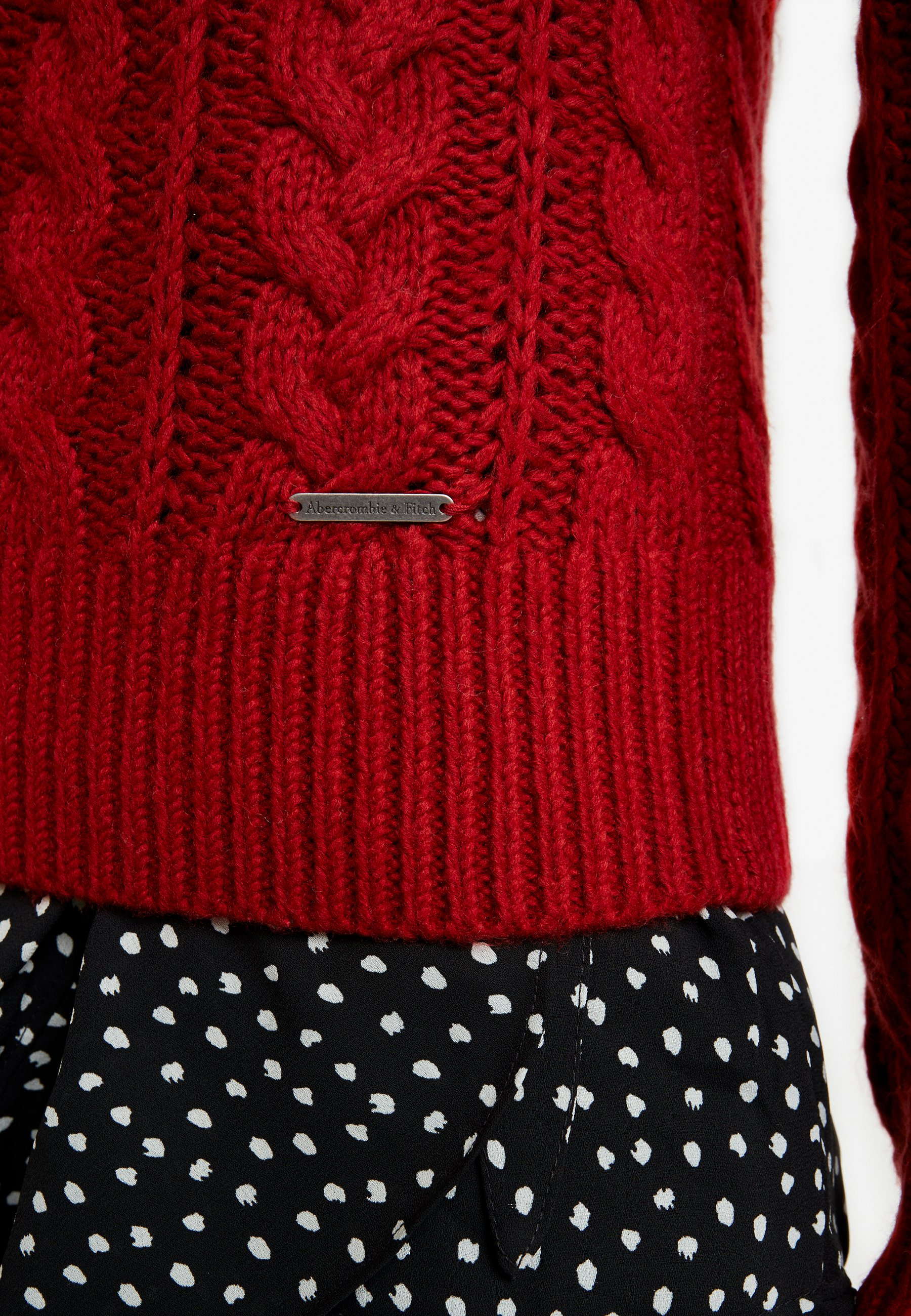 Abercrombie & Fitch MOCKNECK - Strikkegenser - red
