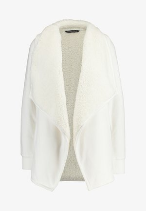 SHERPA CARDIGAN - veste en sweat zippée - white
