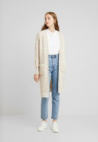 Abercrombie & Fitch - CARDIGAN - Cardigan - neutral brown - 0
