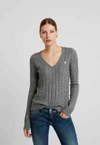 Abercrombie & Fitch - ICON CABLE  - Sweter - grey - 0