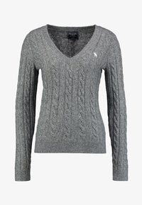 Abercrombie & Fitch - ICON CABLE  - Sweter - grey