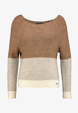 BOATNECK DOLMAN - Maglione - brown colorblock